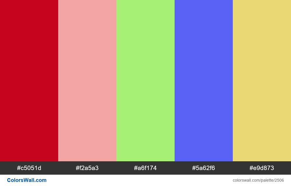 @colorswall palette #1508 Decemeber 28 colors - #2506