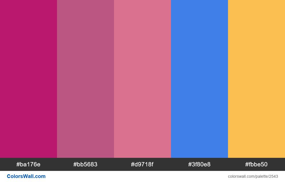 @colorswall palette #1523 - #2543