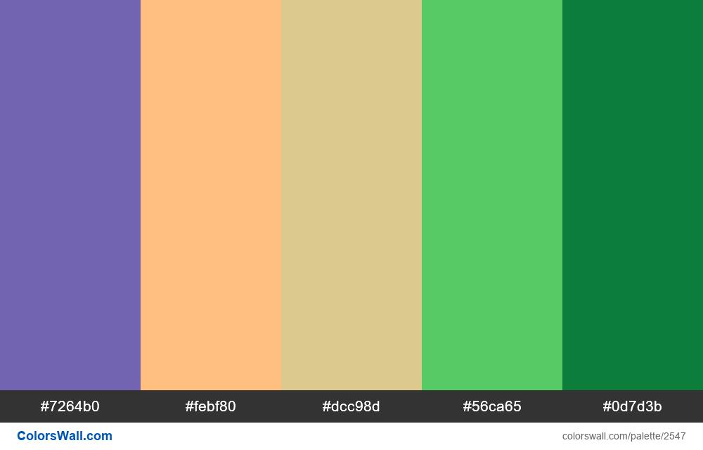 @colorswall palette #1527 - #2547