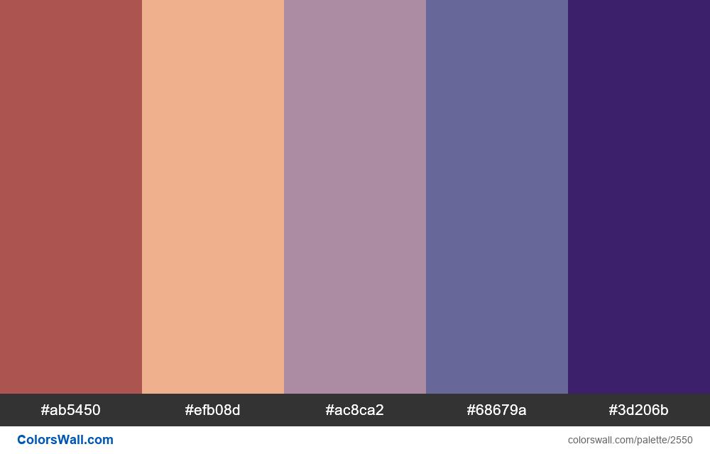 @colorswall palette #1530 - #2550