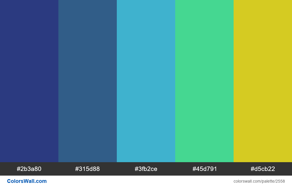 @colorswall palette #1534 - #2558