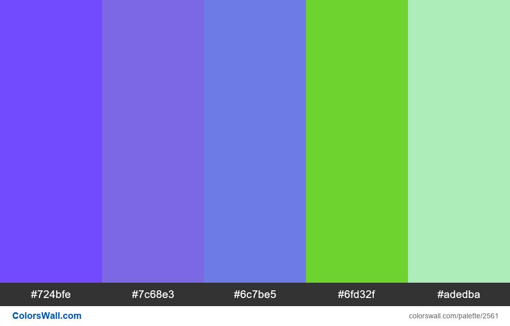 @colorswall palette #1537 - #2561