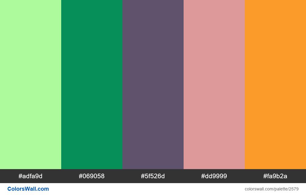 @colorswall palette #1552 - #2579