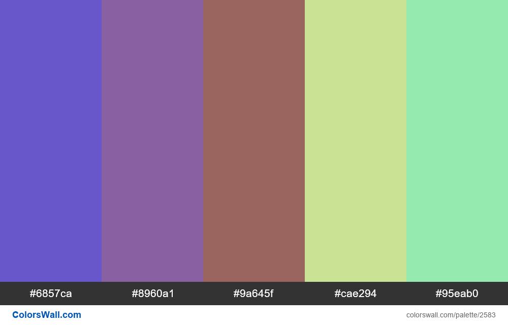 @colorswall palette #1556 - #2583