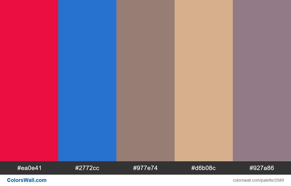 @colorswall palette #1562 - #2589