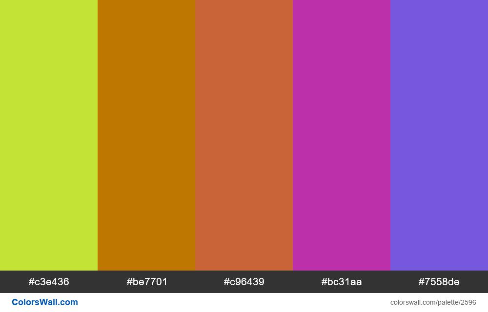 @colorswall palette #1568 - #2596