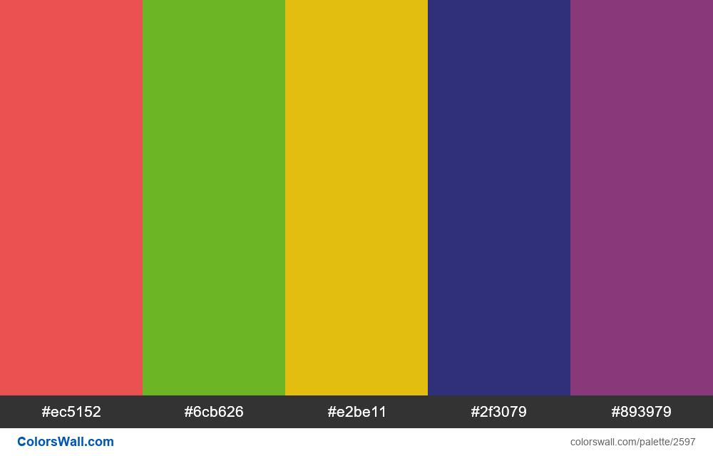 @colorswall palette #1569 - #2597