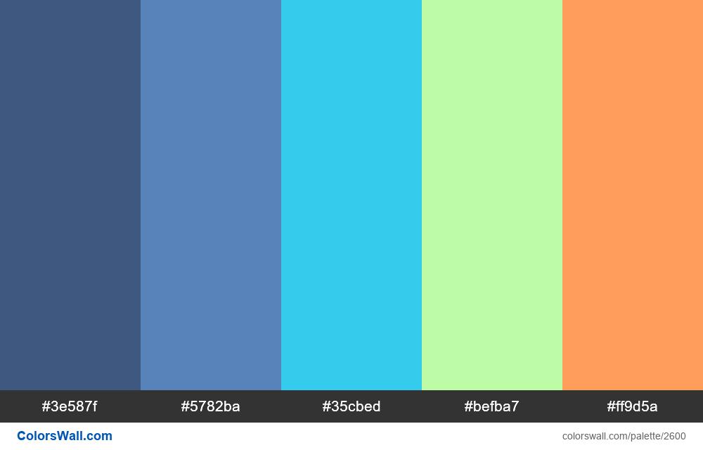 @colorswall palette #1573 - #2600