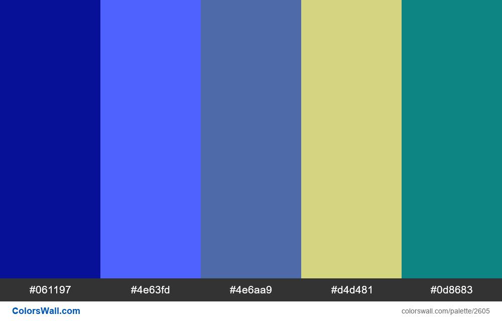 @colorswall palette #1578 - #2605