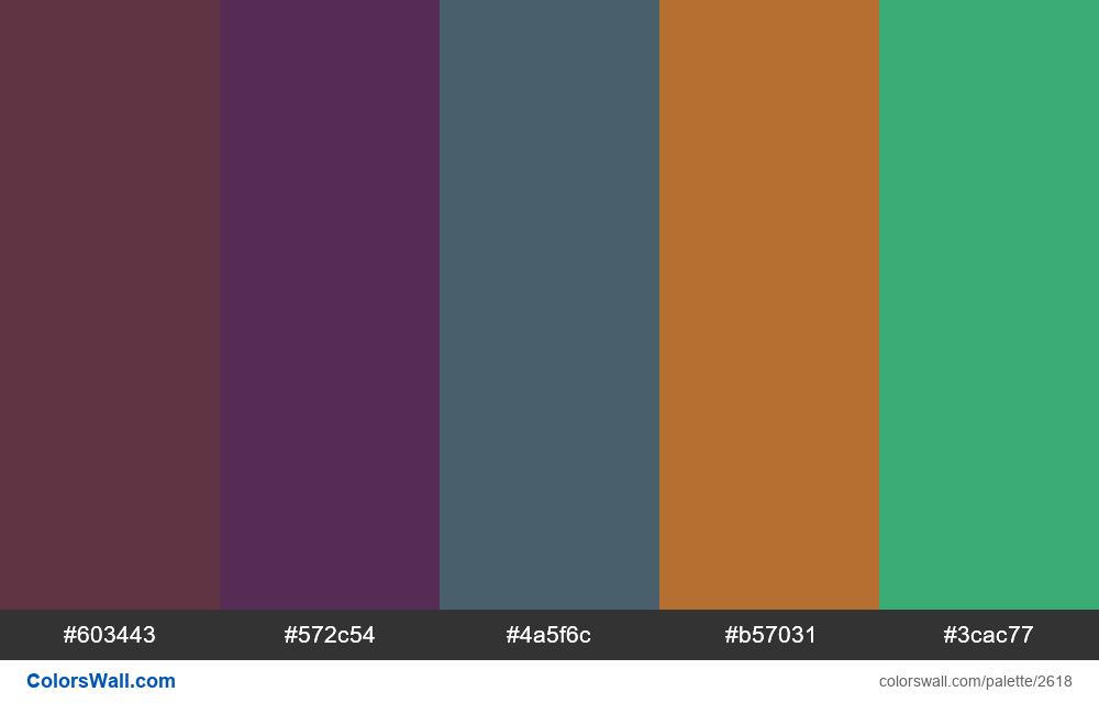 @colorswall palette #1588 - #2618