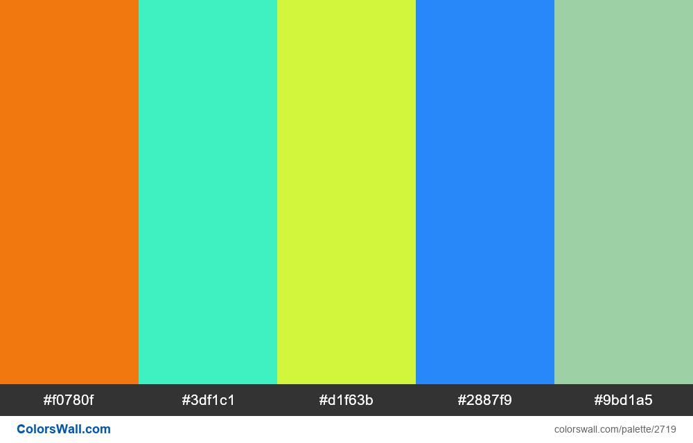 @colorswall palette #1604 - #2719