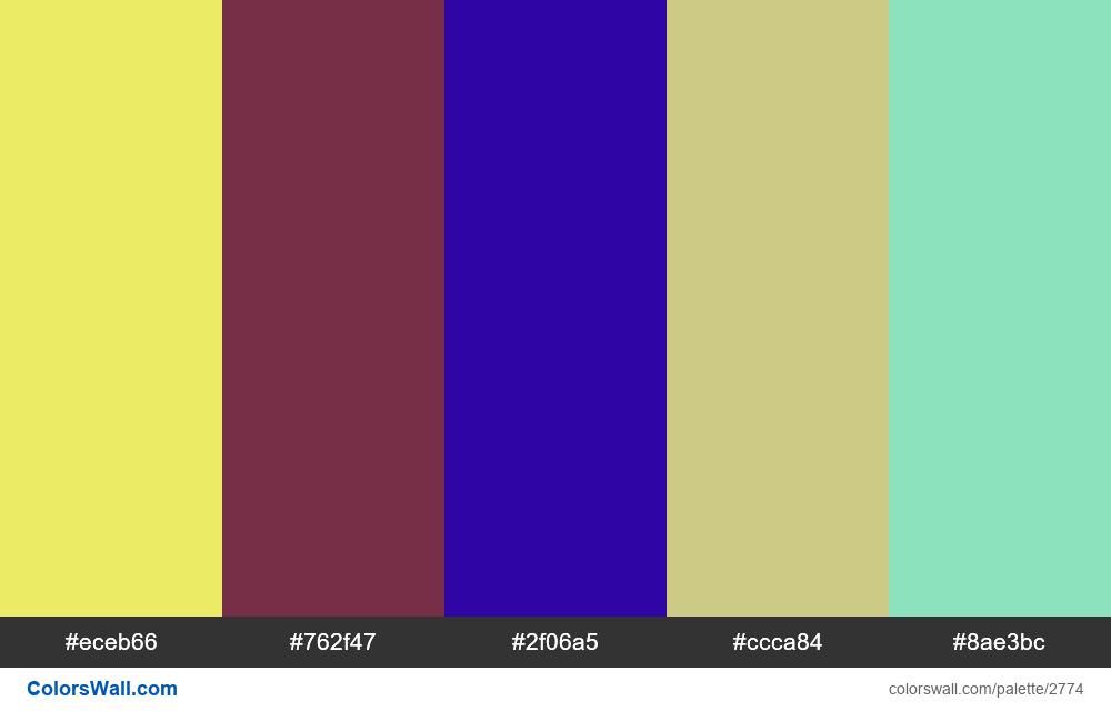 @colorswall palette #1612 - #2774