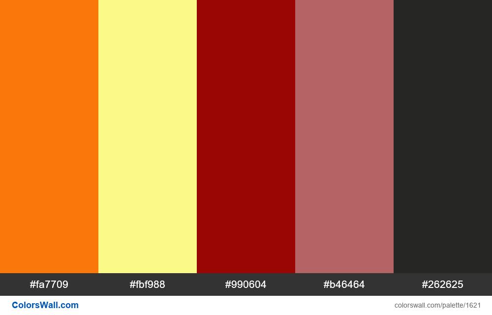 Autumn colors palette - #1621