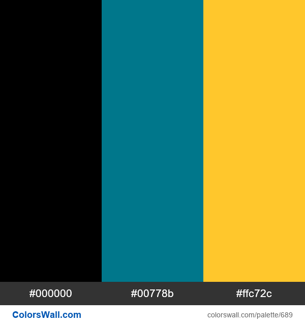 Bahamas flag colors - #689