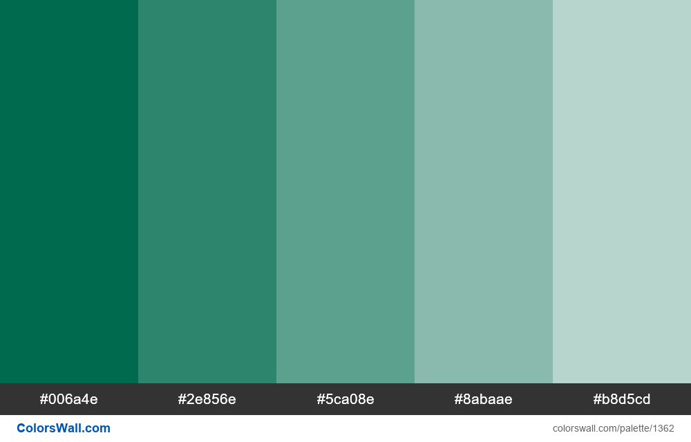 Bangladesh green color 5 tints - #1362