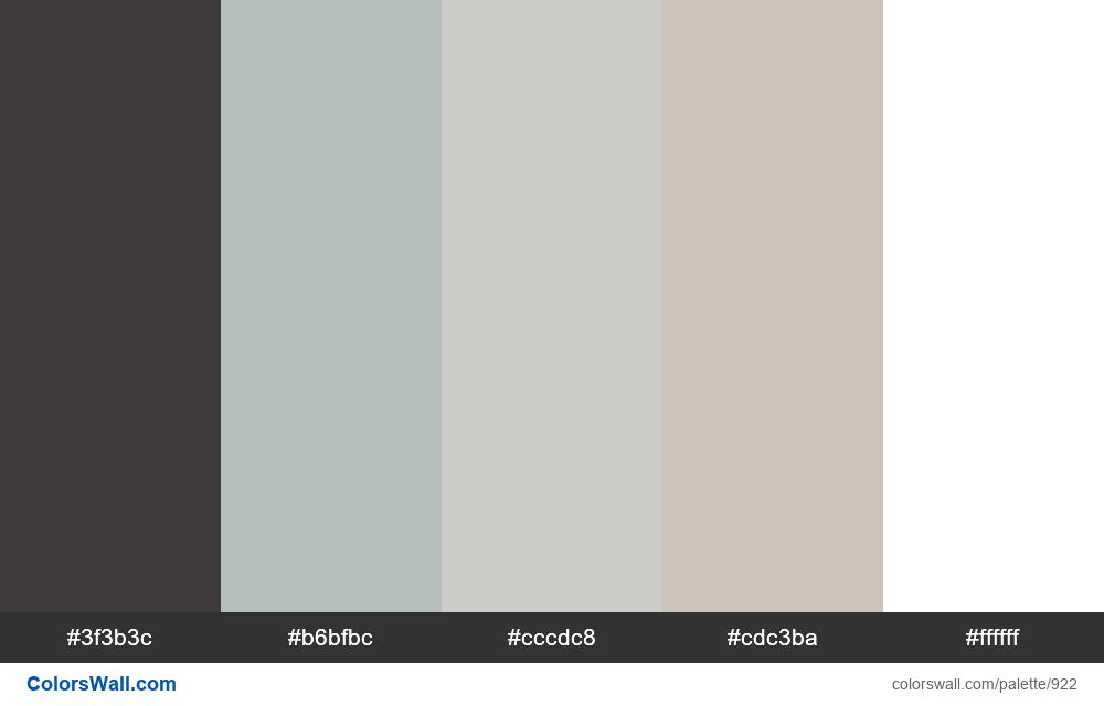 Bathroom popular colors palette - #922