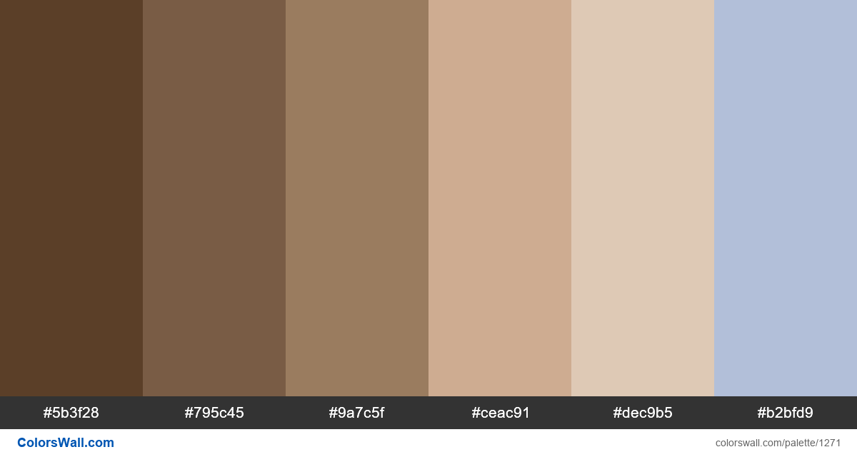 Beach color palette - #1271