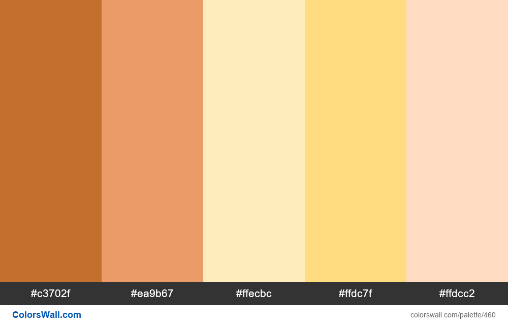 Beach color palette - #460