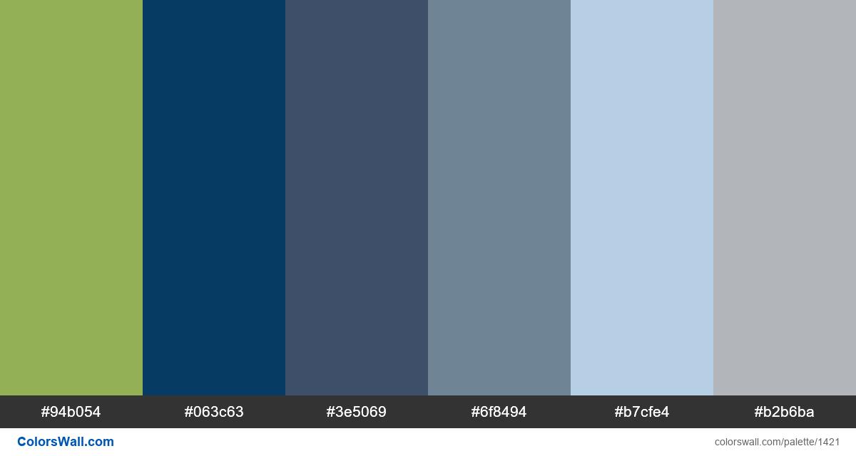 Bed room blue colors palette - #1421