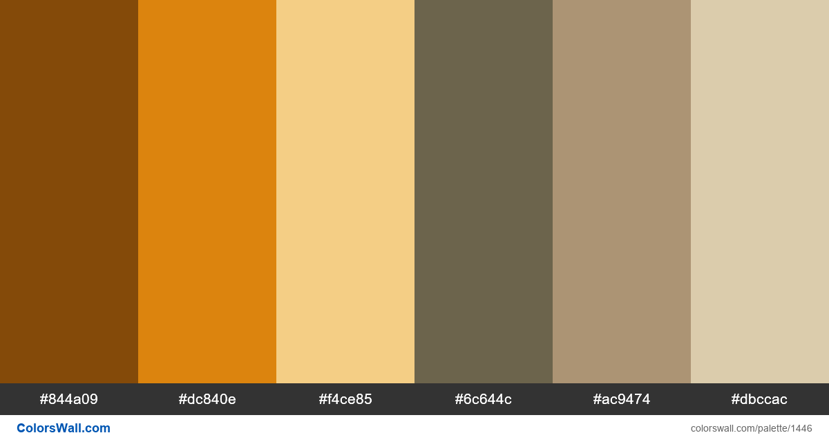 Bed room colors palette - #1446