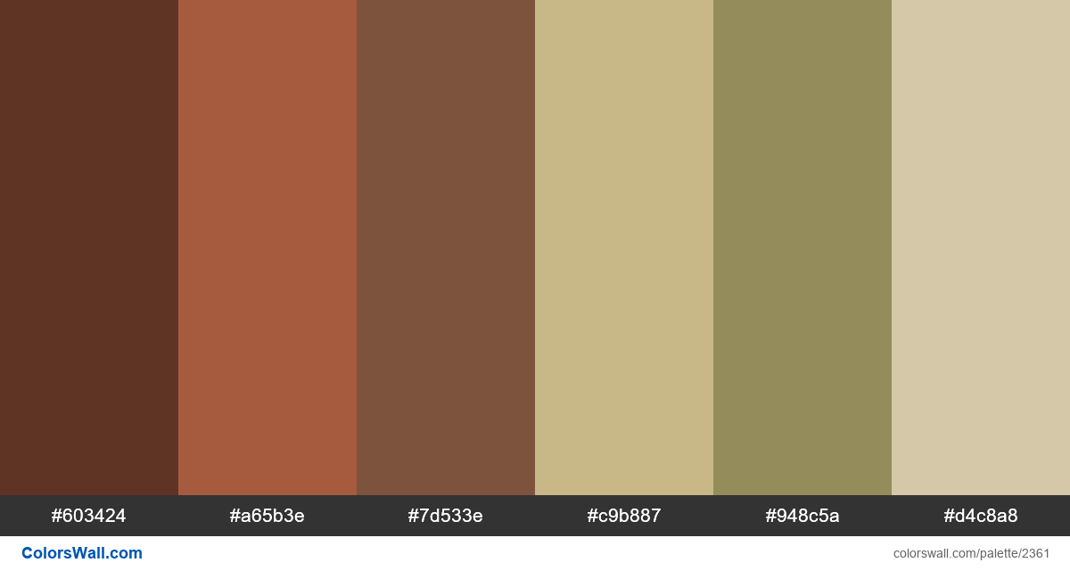 Bedroom color palette - #2361