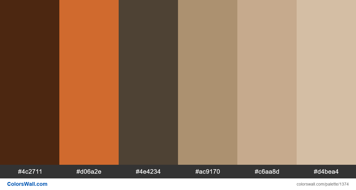 Bedroom colors palette - #1374