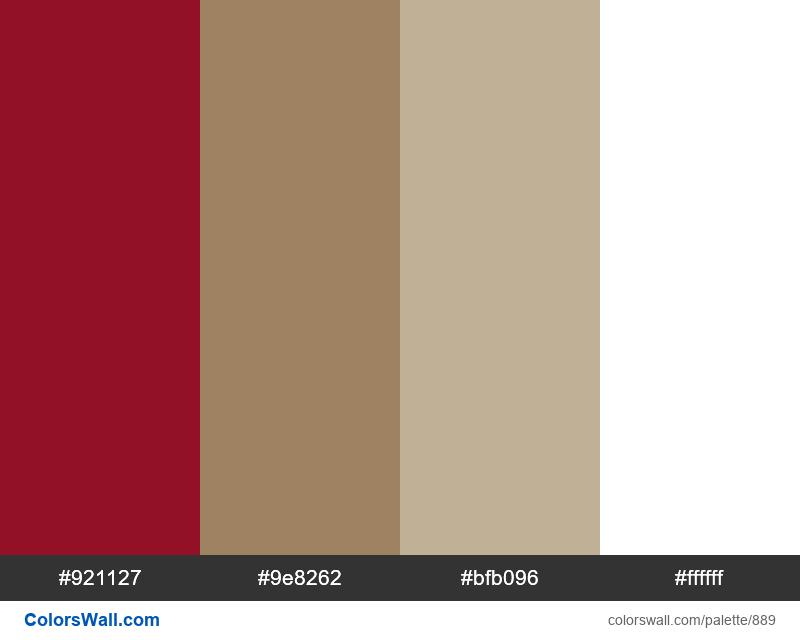 Bedroom regal color palette - #889