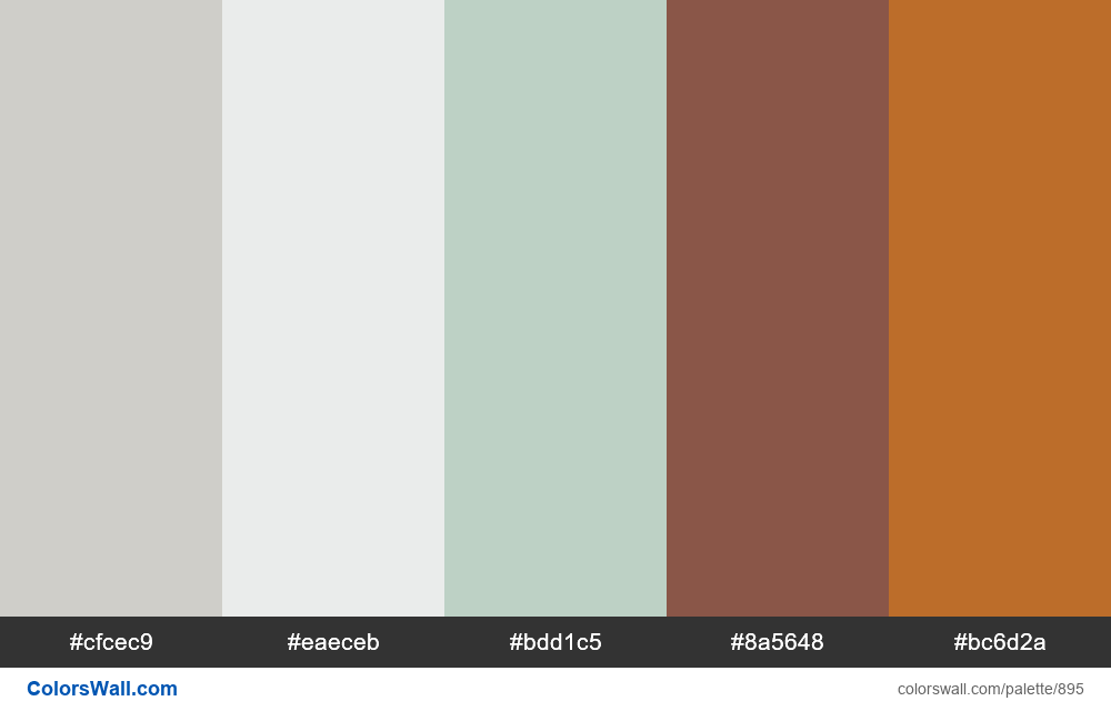 Bedroom Relax #2 color palette - #895