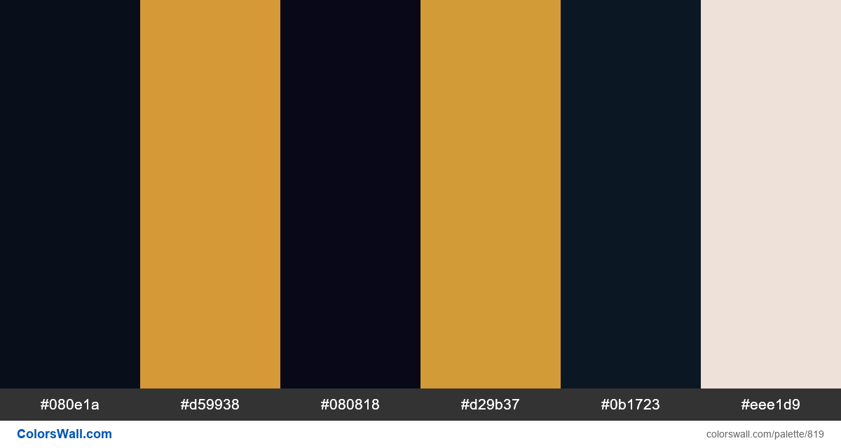 Bee colors palette - #819