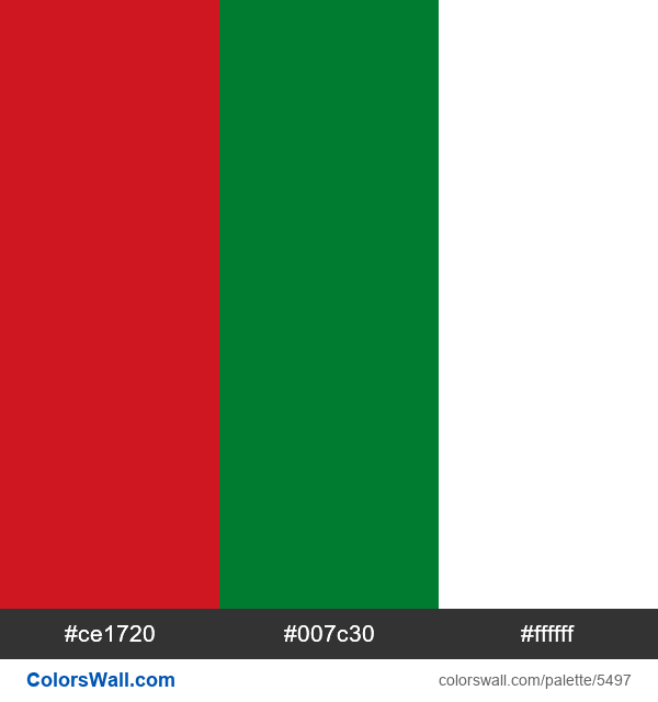 Belarus flag colors - #5497