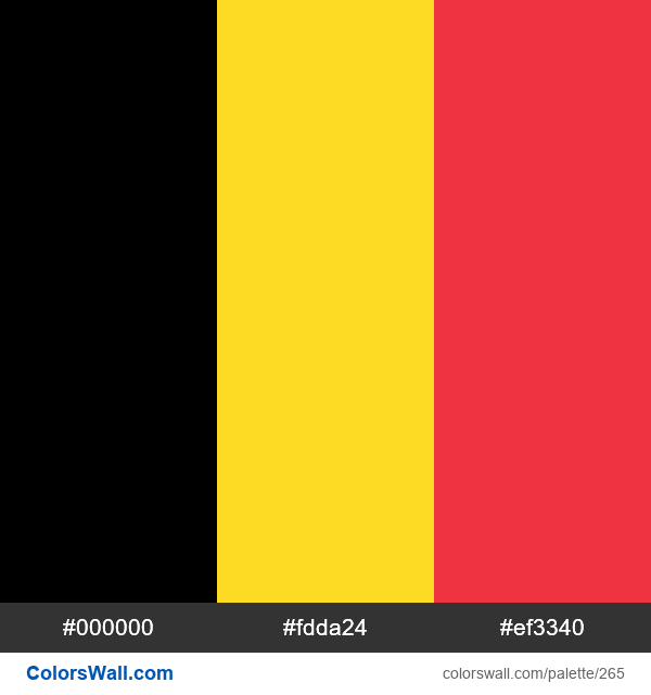 Belgium flag colors - #265