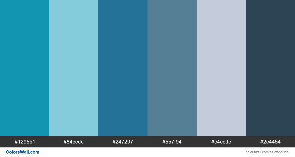 Blue colors palette - #2125