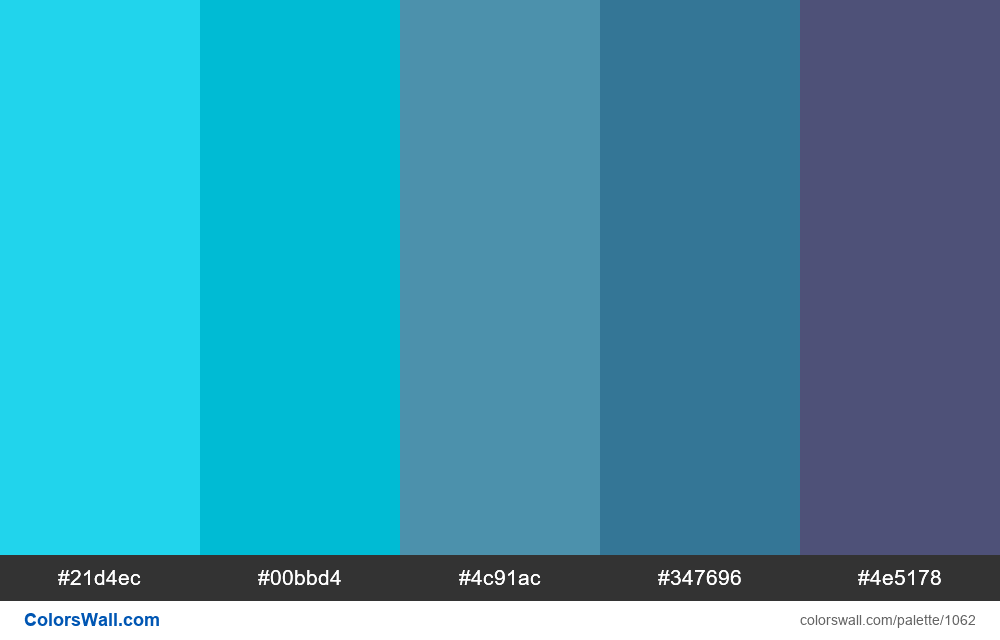 Blue Diagram Data colors plaette - #1062