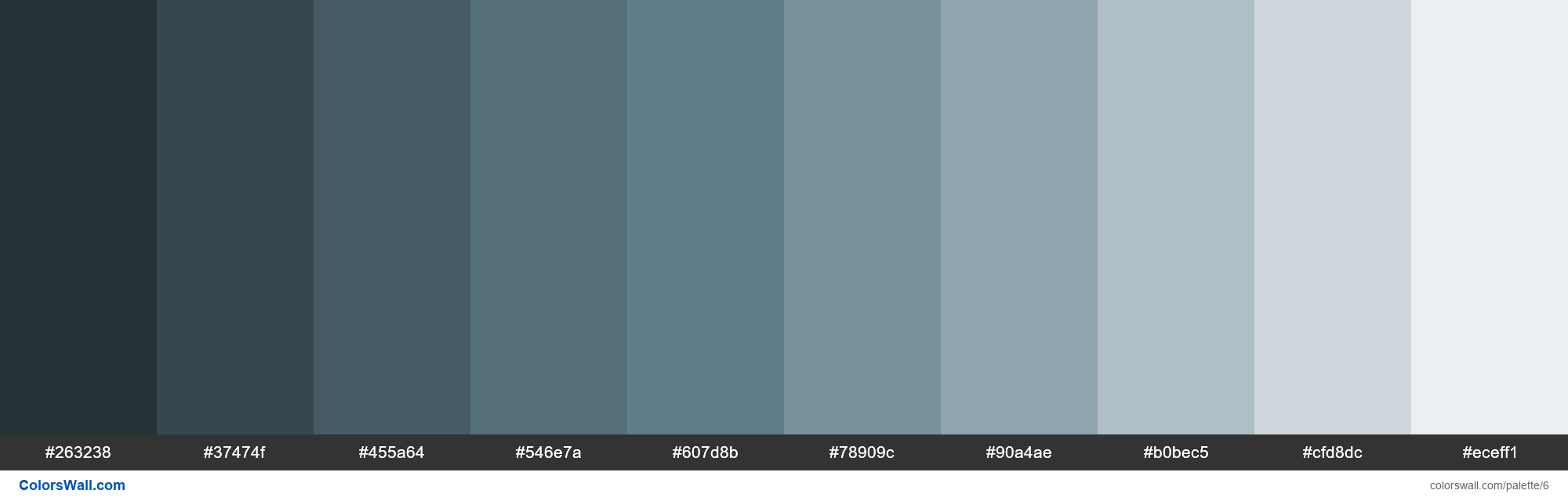 Blue Grey Palette Materialize Css 6
