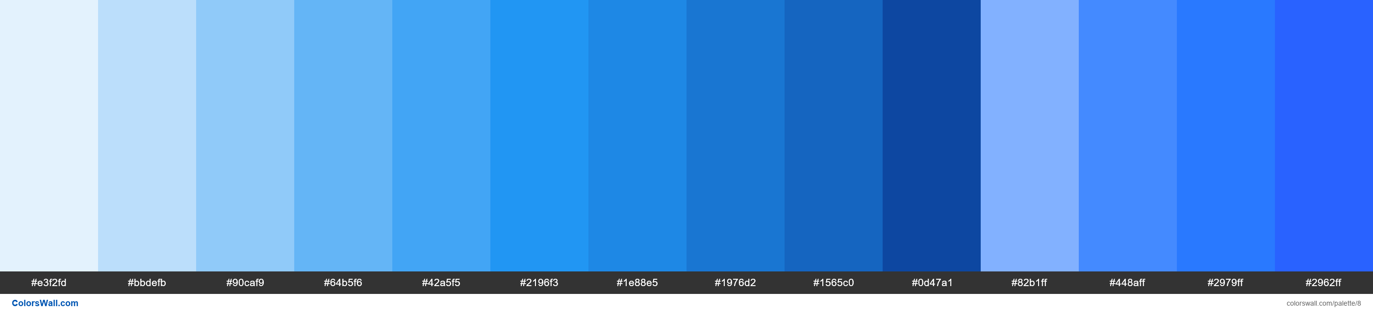 Contact US >> Blue palette Materialize CSS HEX, RGB codes