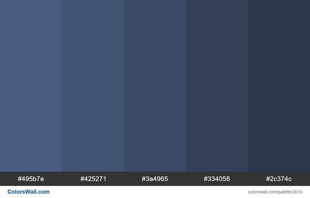 Blue shades colors - #2610