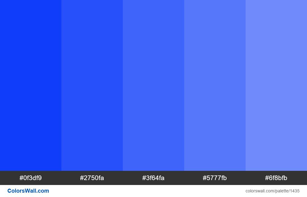 Blue tints 5 colours - #1435