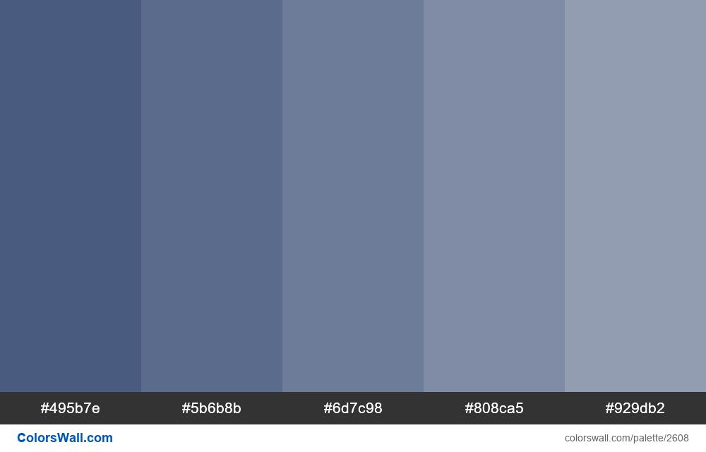 Blue tints colors - #2608
