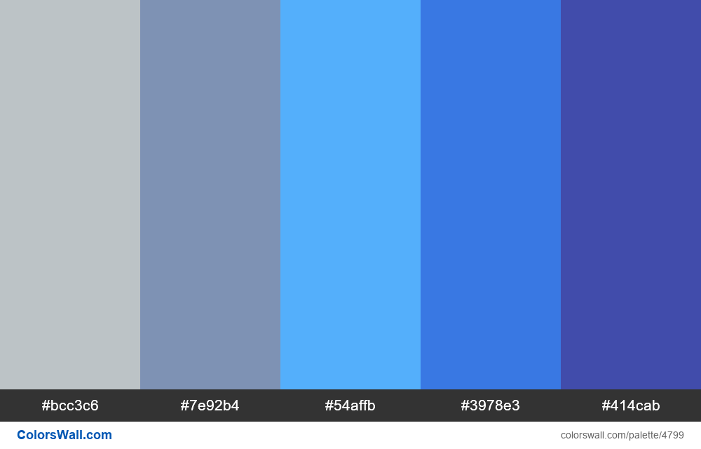 Blue website colors palette - #4799
