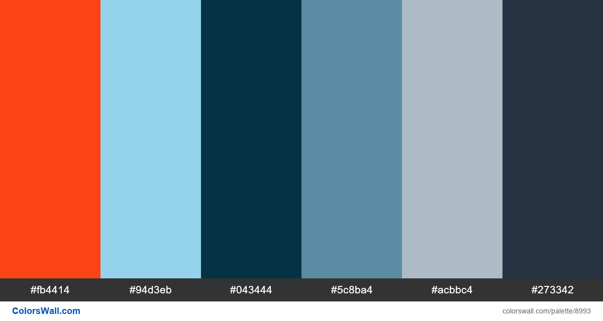 Branding typography lockup colors palette - #8993