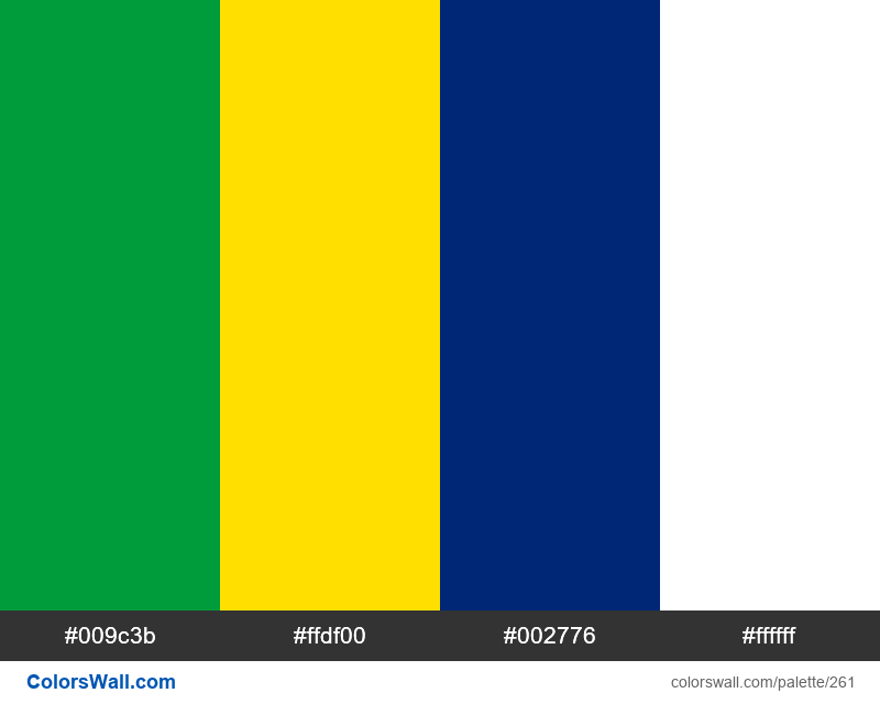 Brazil flag colors - #261