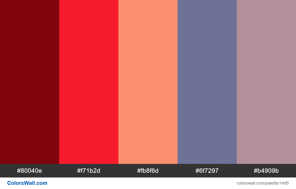 Bright colors palette - #1495