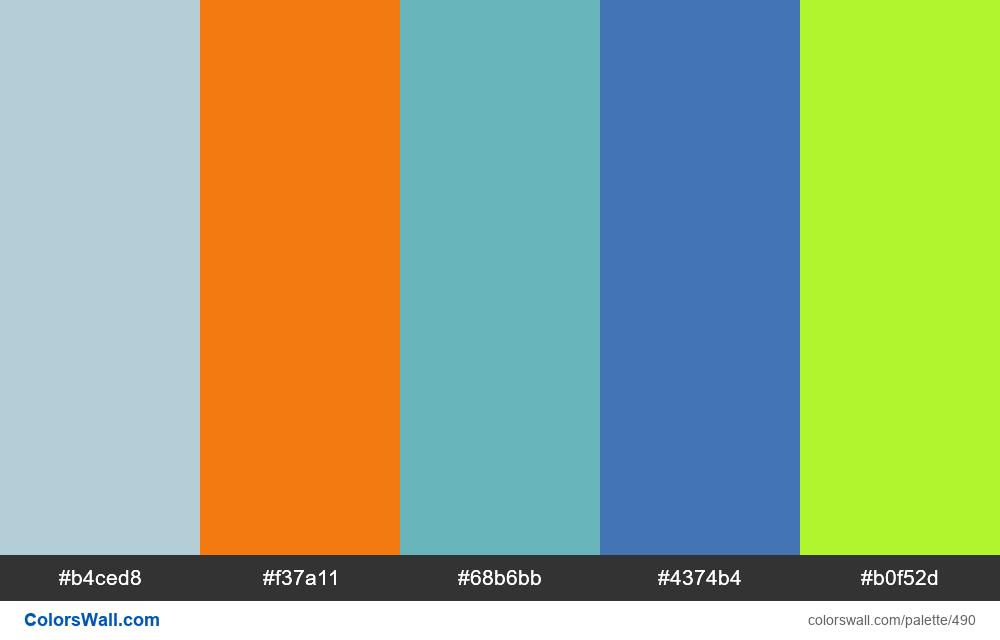 Bright website's palette - #490