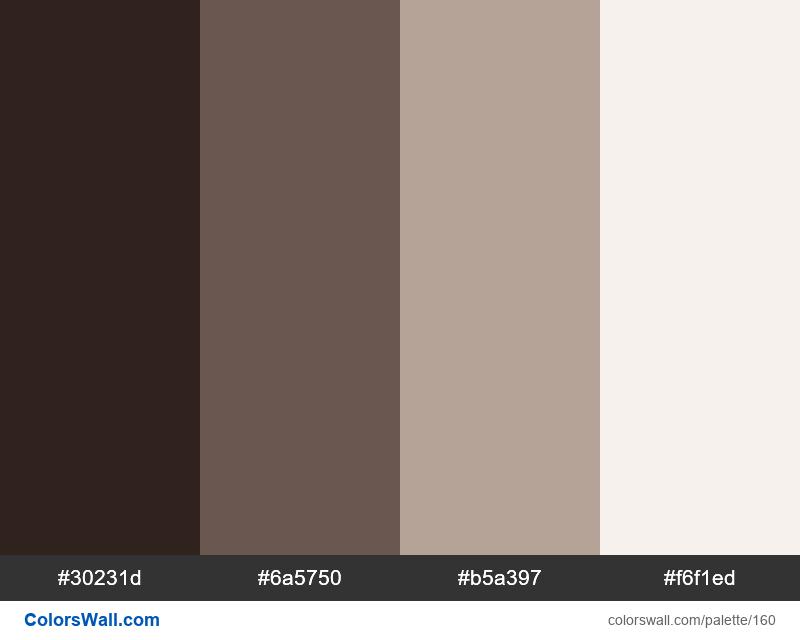 Brown palette - #160