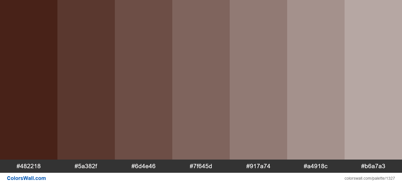 Brown tints colours - #1327