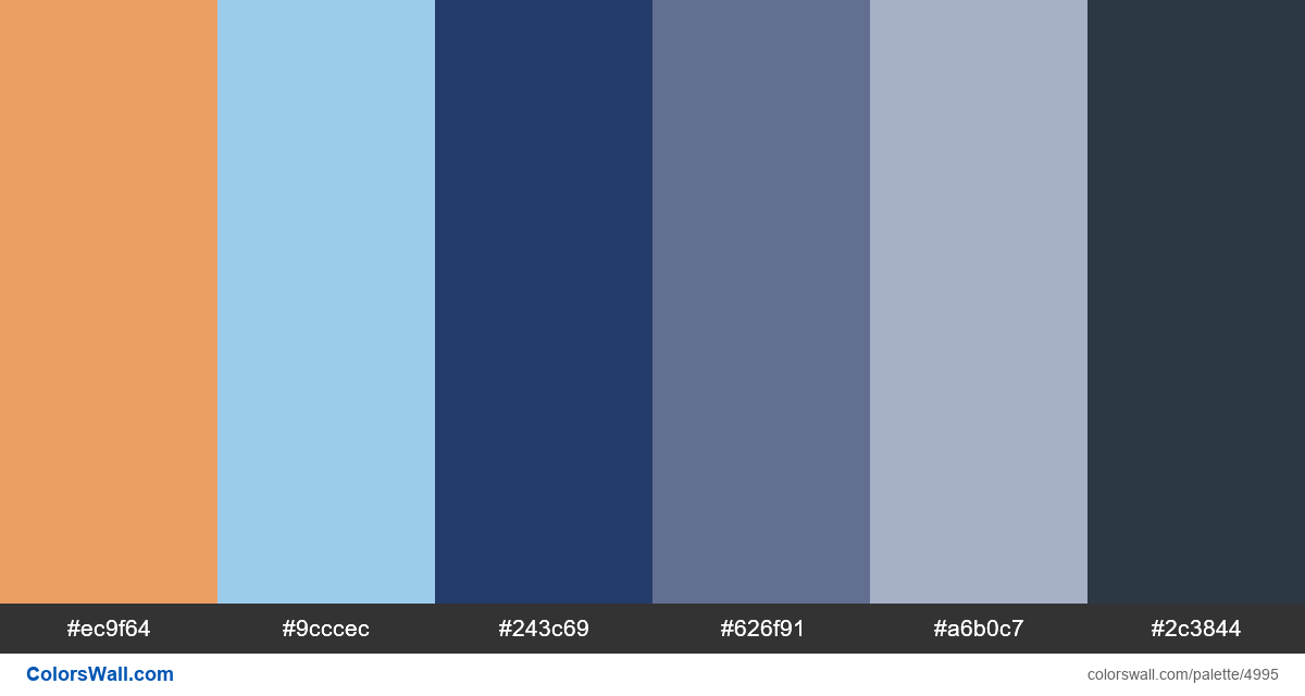 Business landing concept colors palette - #4995