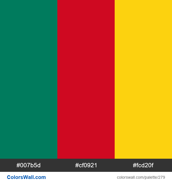 Cameroon flag colors - #279