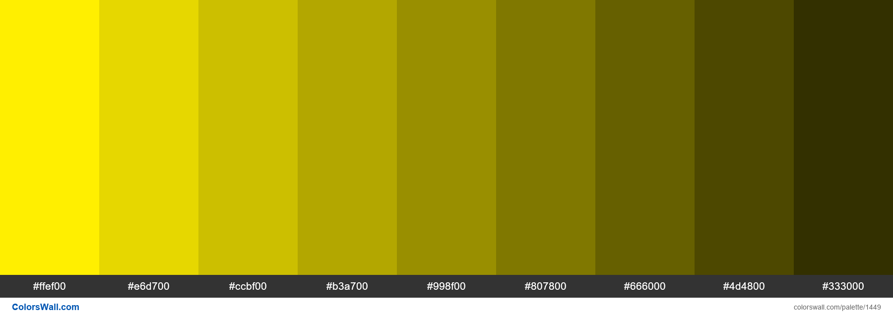 Canary yellow shades - #1449