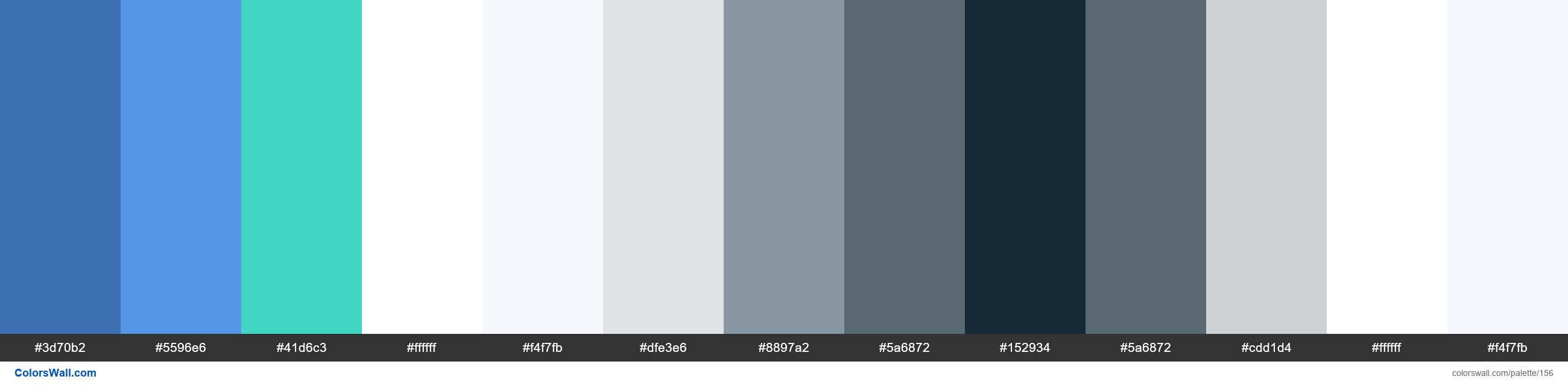 Carbon default theme colors palette - #156