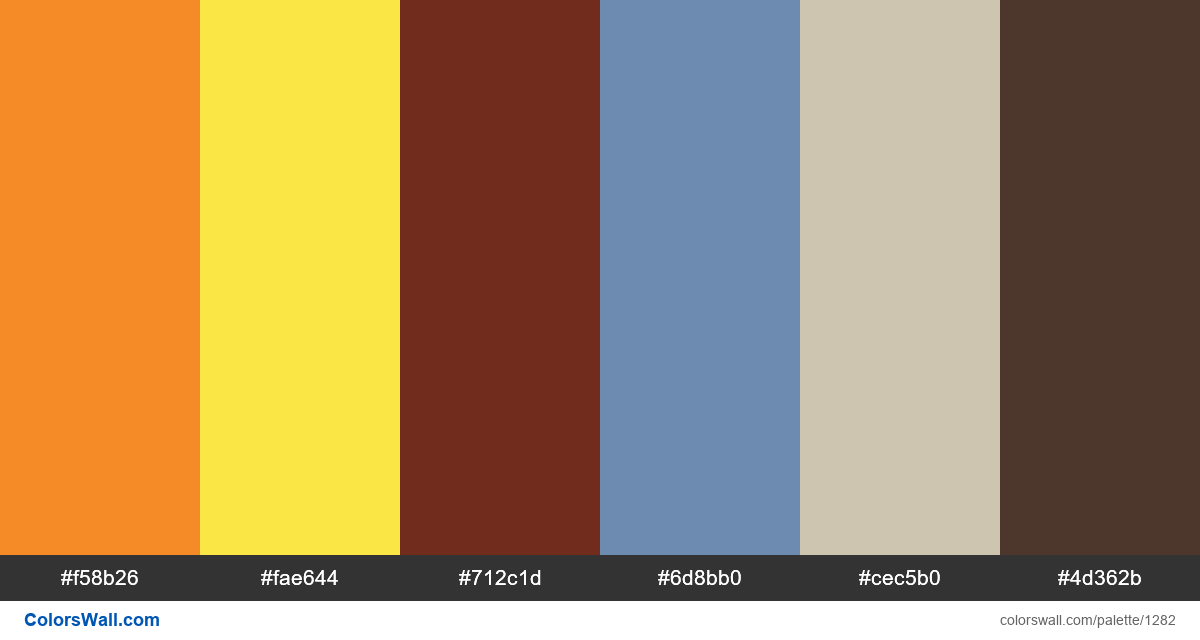 City traffic color palette - #1282